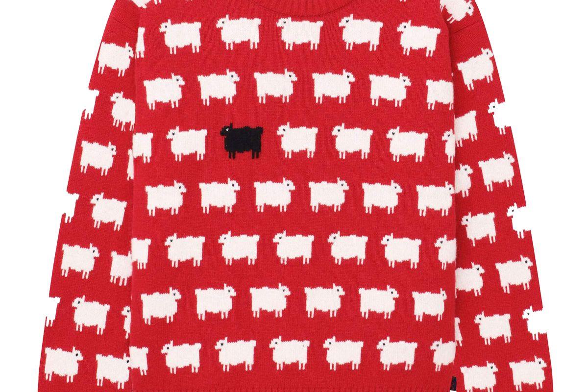 rowing blazers x warm and wonderful men's sheep sweater
