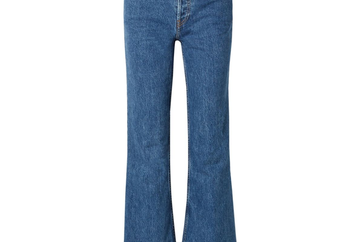 re done high rise wide leg jeans