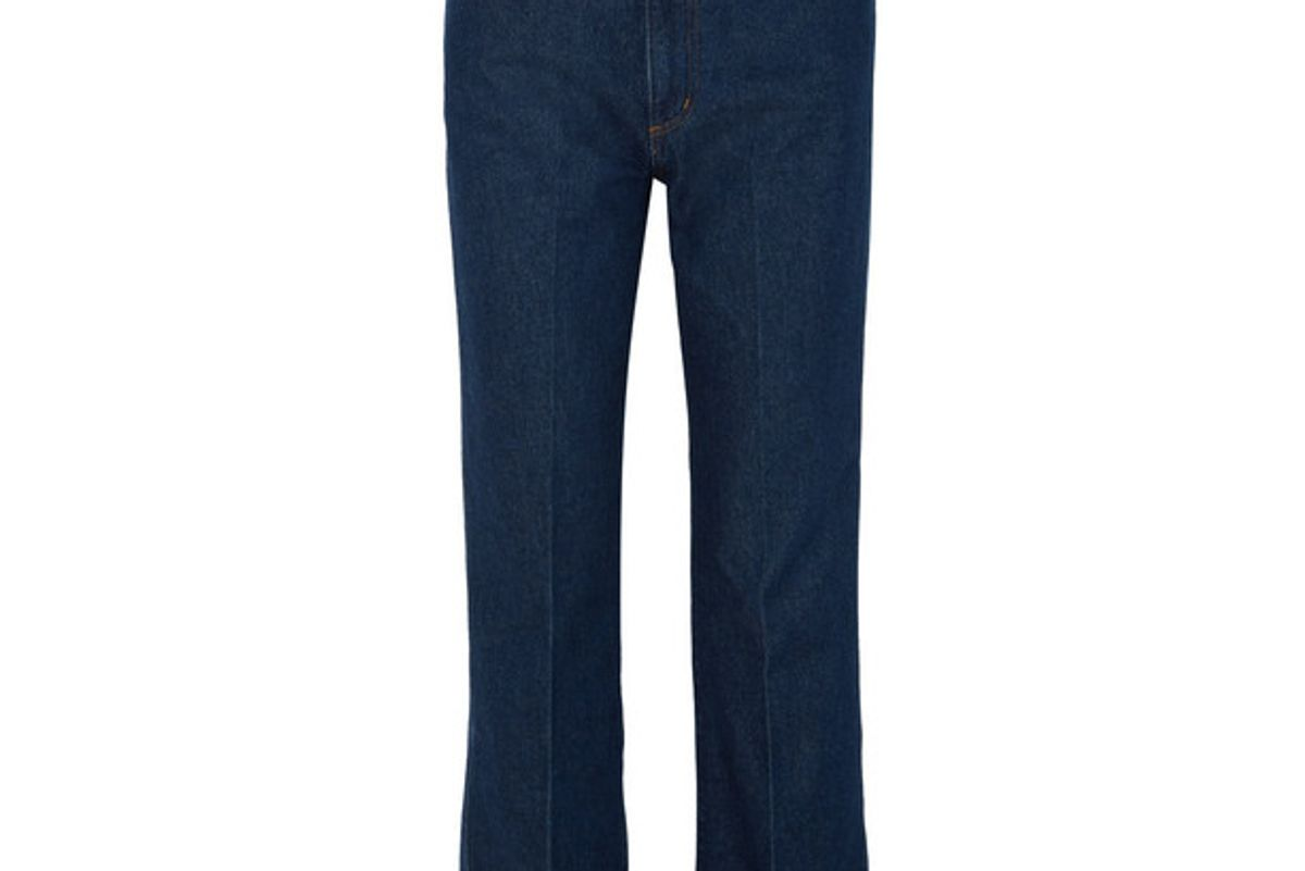goldsign the a high rise straight leg jeans