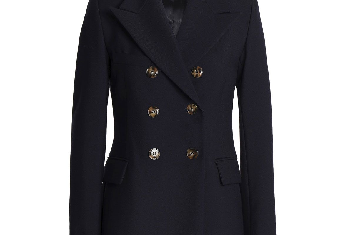 alexa chung double breasted wool twill jacket