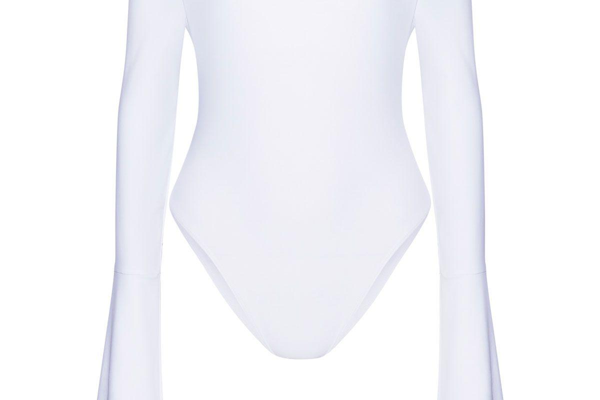 alix off the shoulder stretch jersey bodysuit