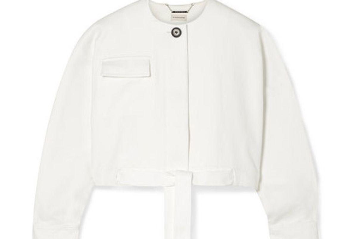 by malene birger cropped cotton blend twill jacket