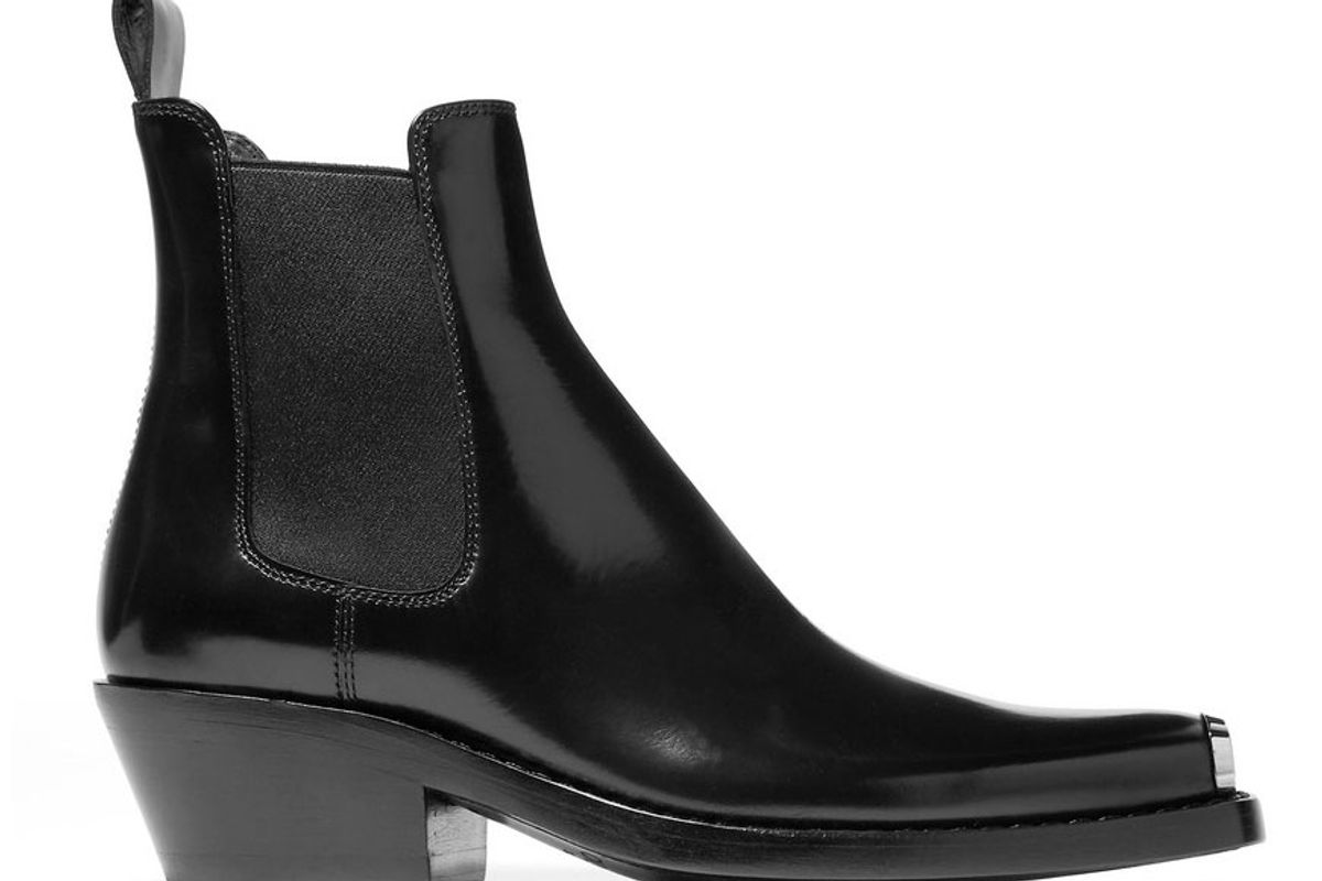 calvin klein 205w39nyc claire metal trimmed leather ankle boots