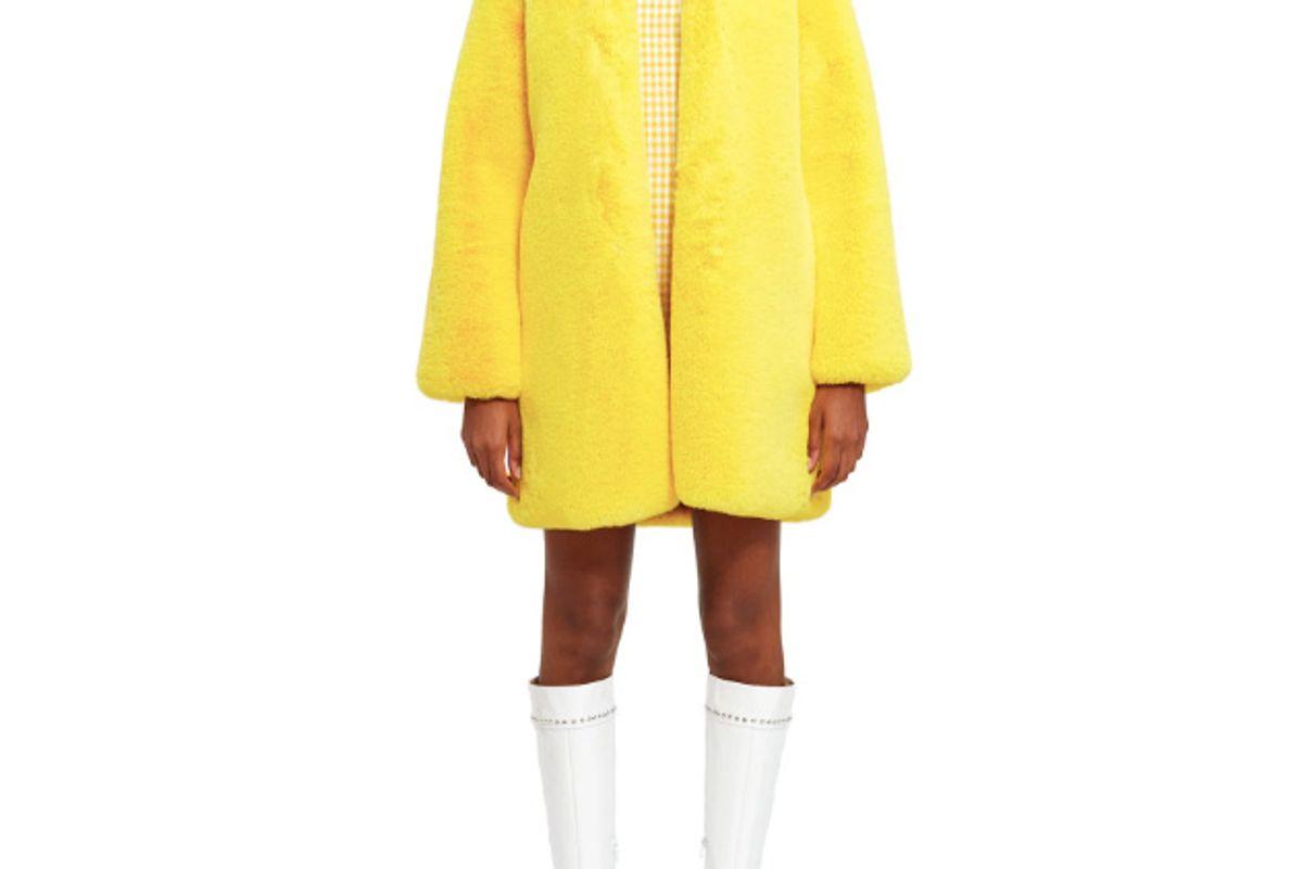 lemonplet by choyo fun faux fur coat