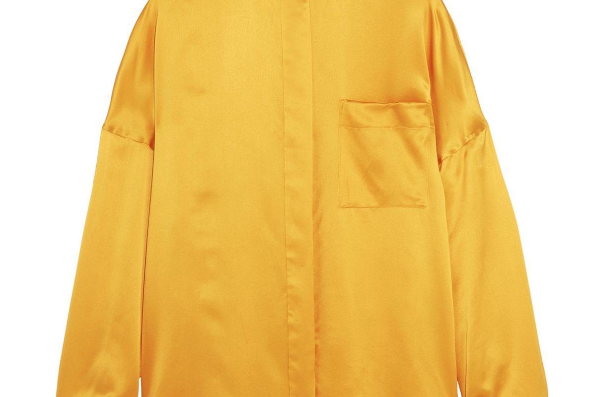 Oversized Silk-Satin Shirt