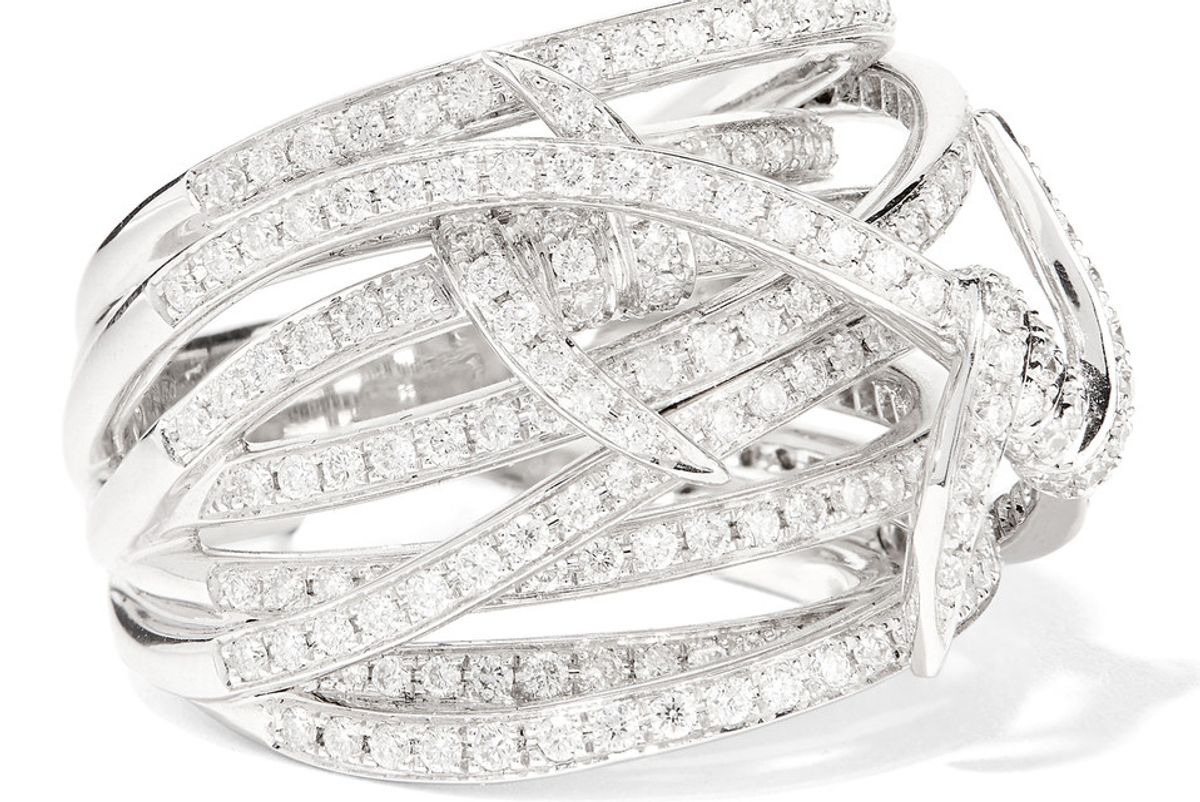 Forget Me Knot 18-Karat White Gold Diamond Ring