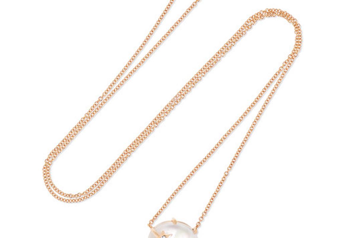 andrea fohrman mini galaxy 18 karat rose gold multi stone necklace