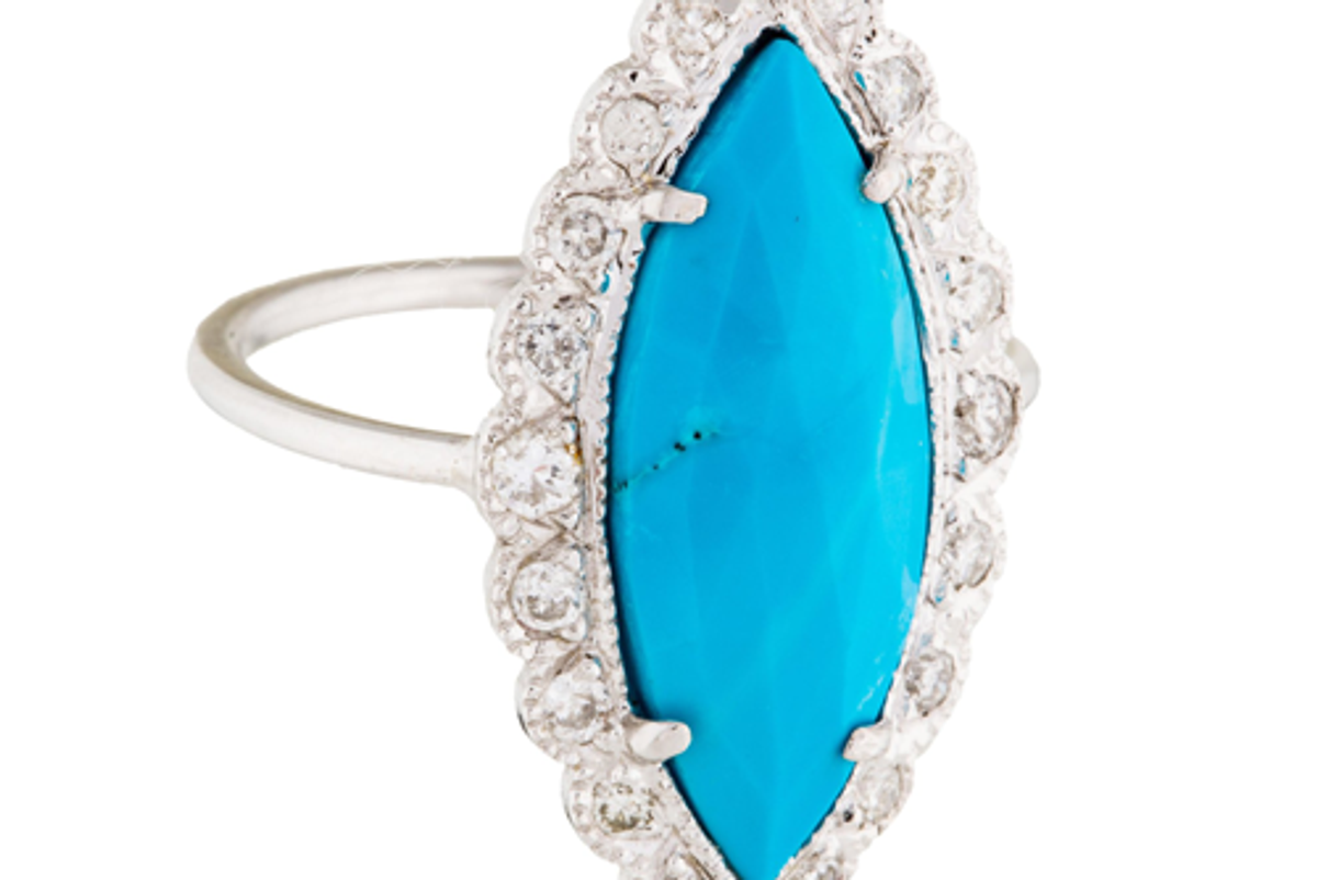 jacquie aiche diamond turquoise cocktail ring