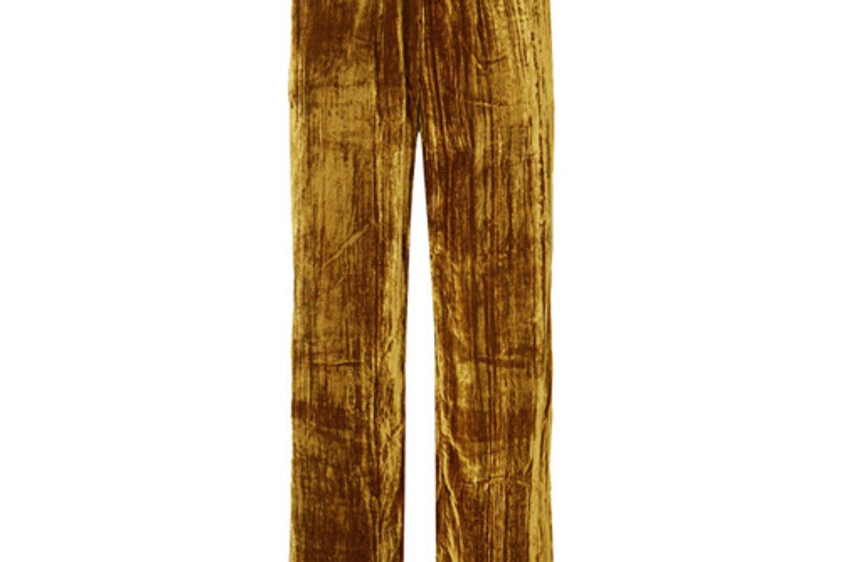 stine goya aileen crushed velvet pants