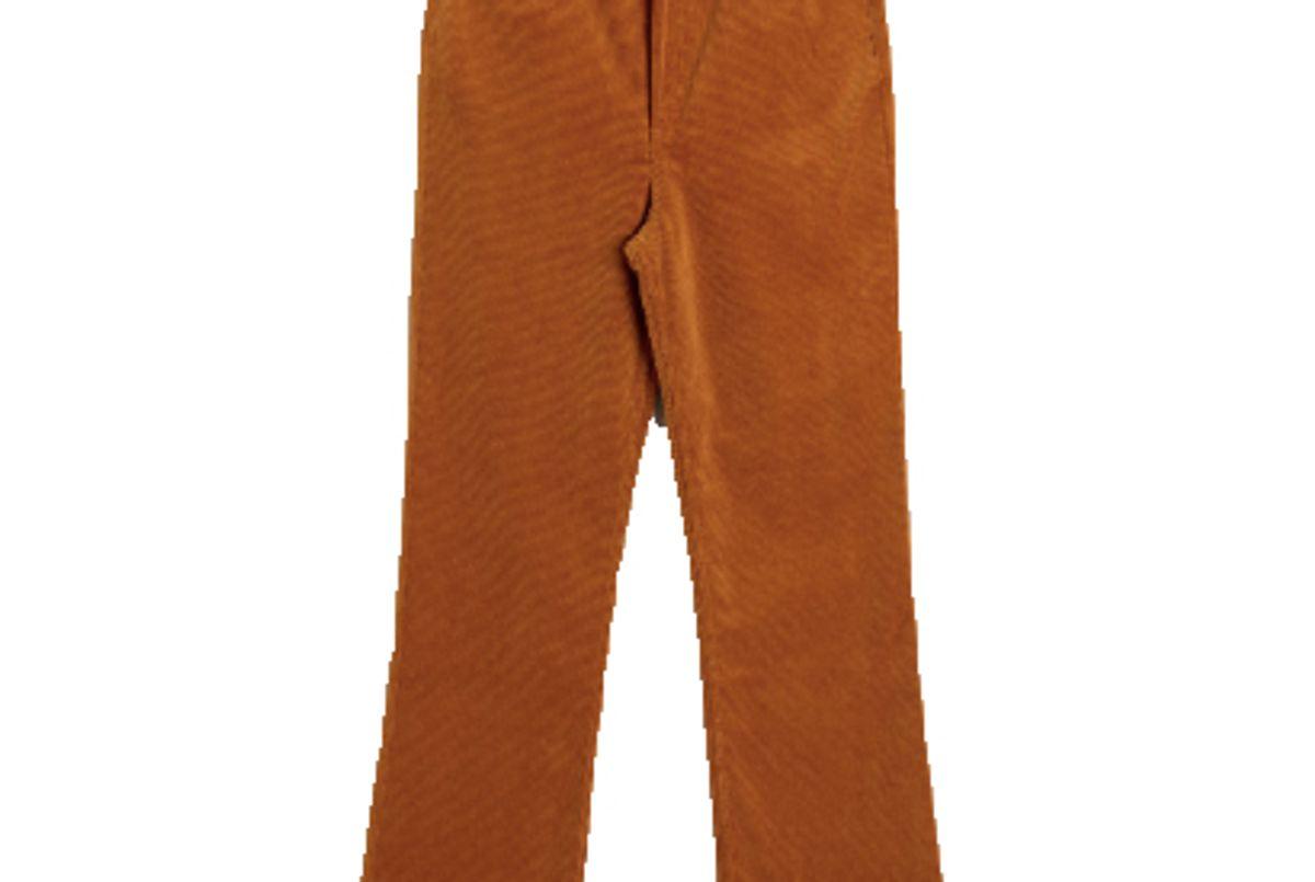 stories kick flare corduroy trousers