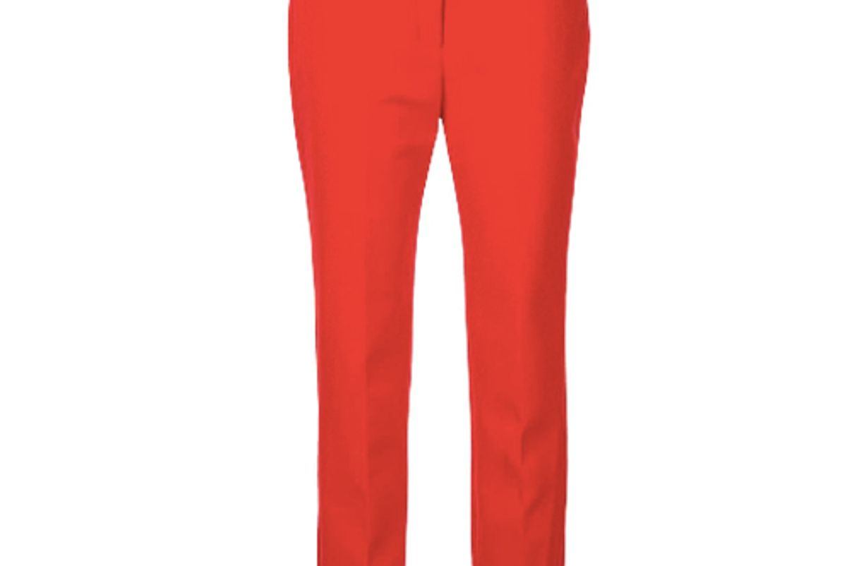 milly straight leg suit trousers