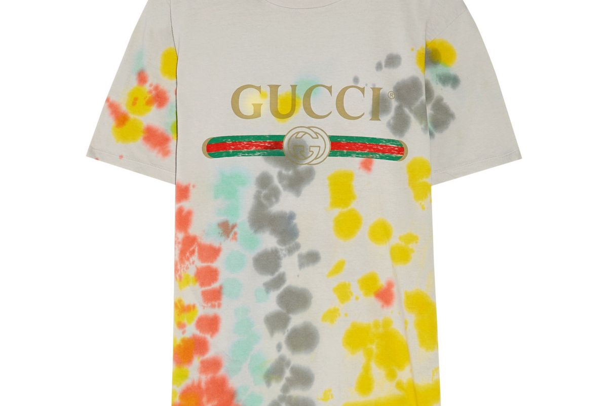 Printed Tie-Dyed Cotton-Jersey T-shirt