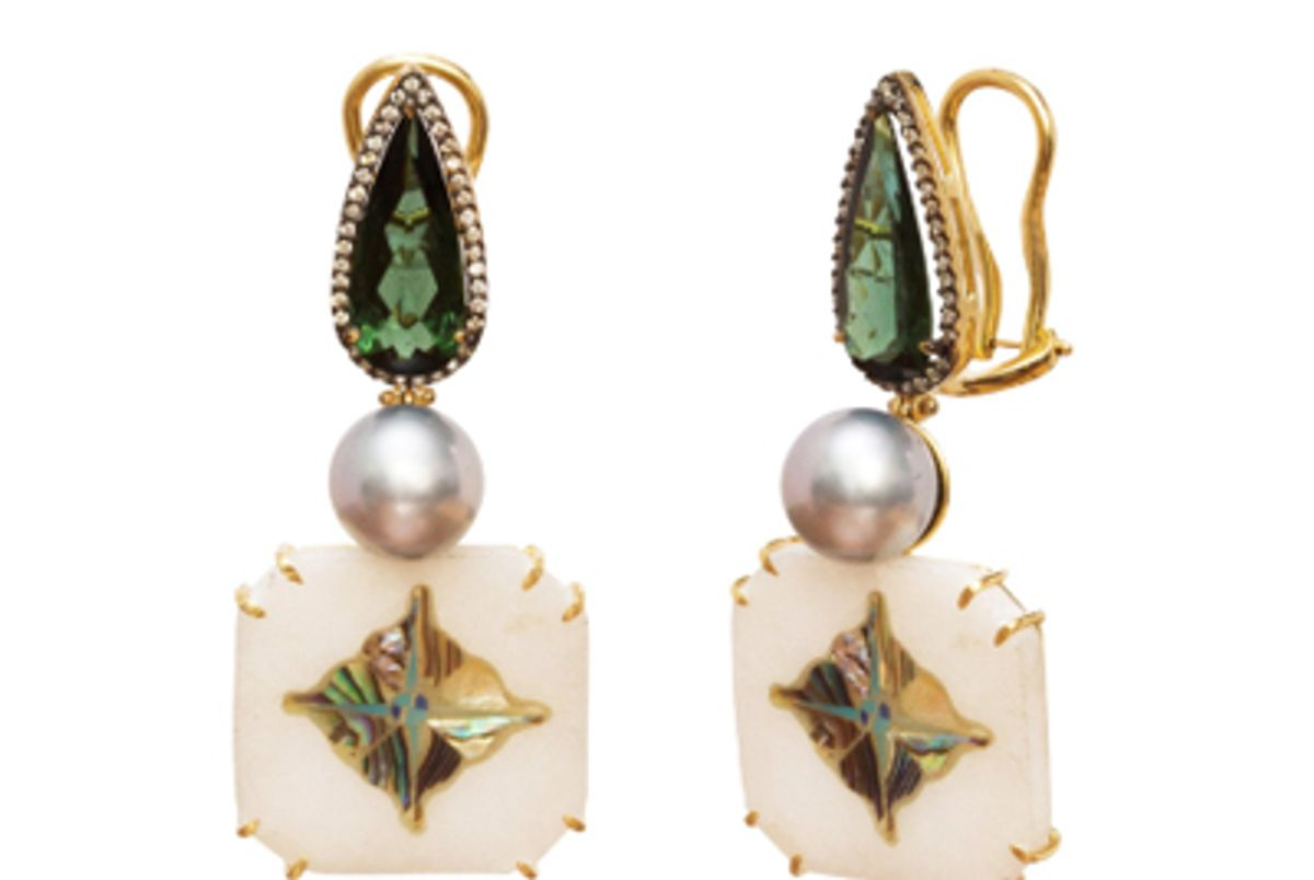 silvia furmanovich marble mosaic earrings