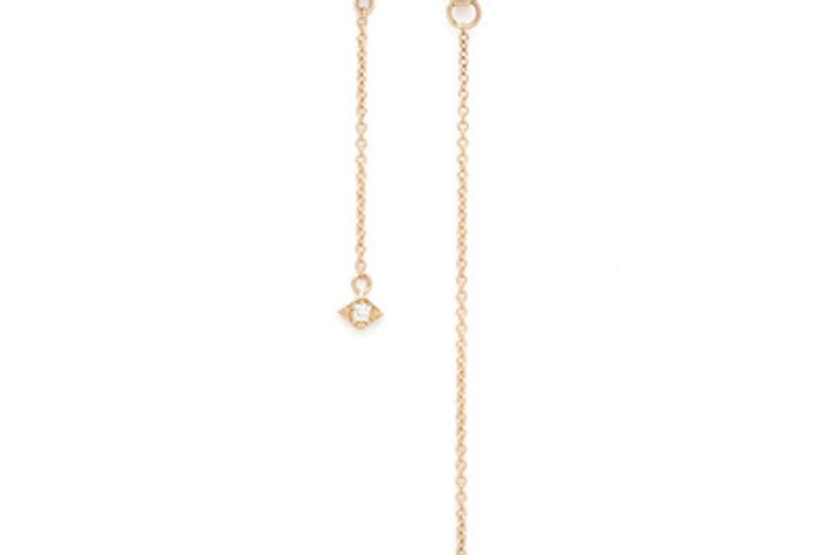azlee jewelry 2 strand lone burst earring 18k yellow gold