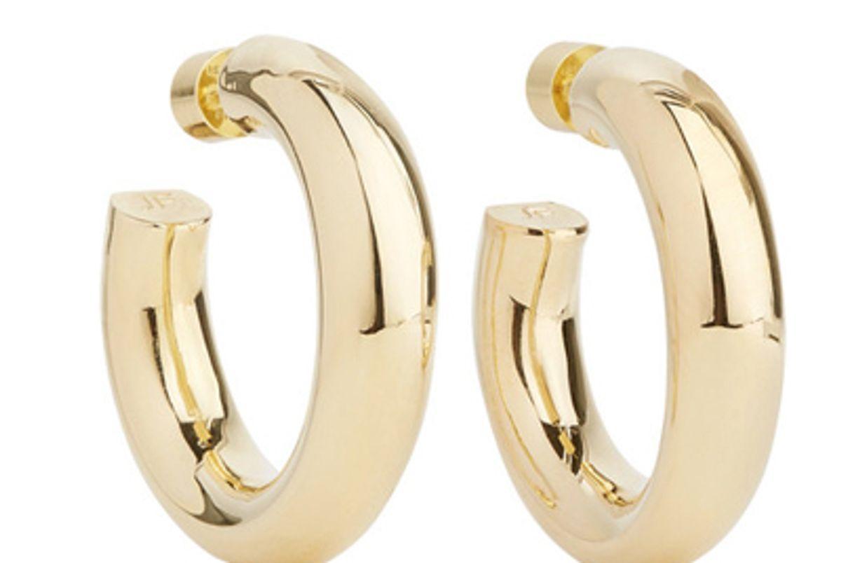 jennifer fisher mini jamma gold plated hoop earrings