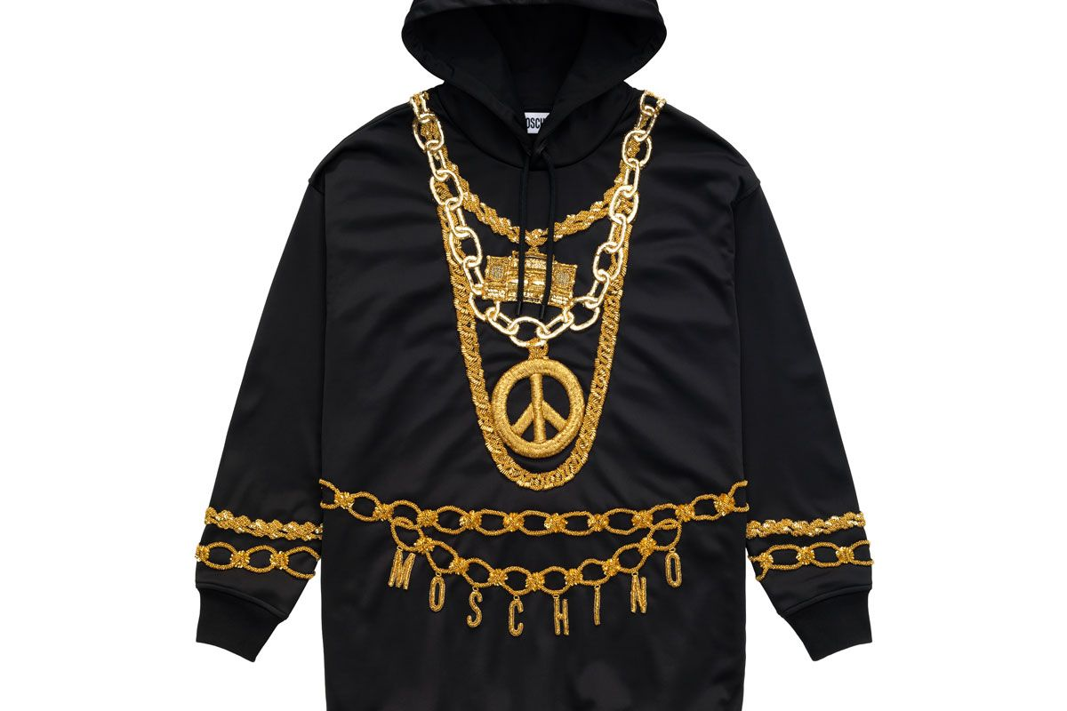 h&m x moschino hooded dress