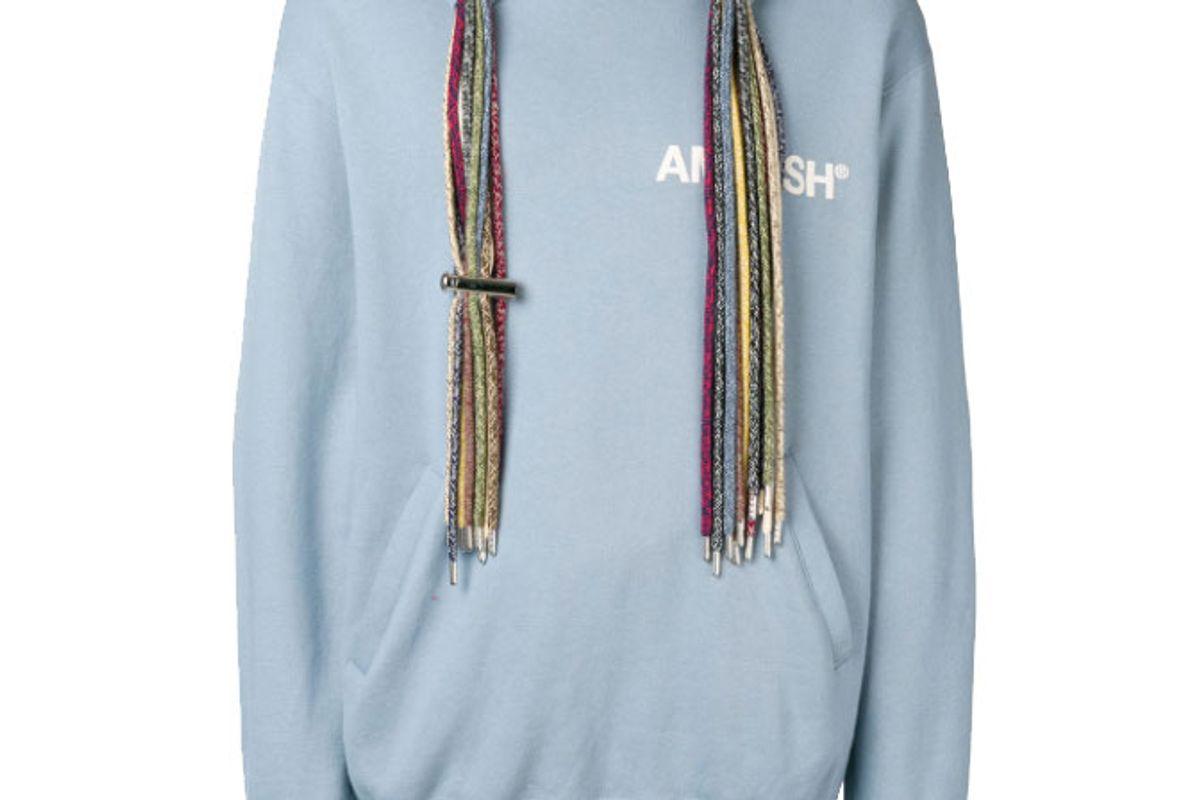 ambush oversized multi drawstring cotton hoodie