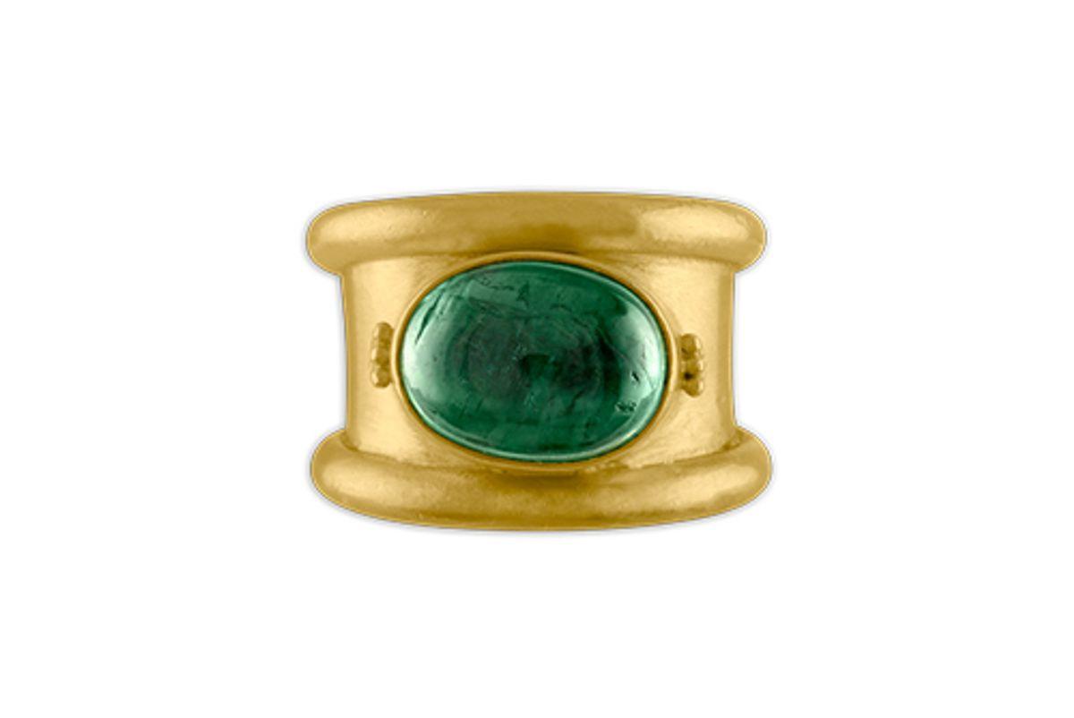 prounis jewelry green blue tourmaline calda ring