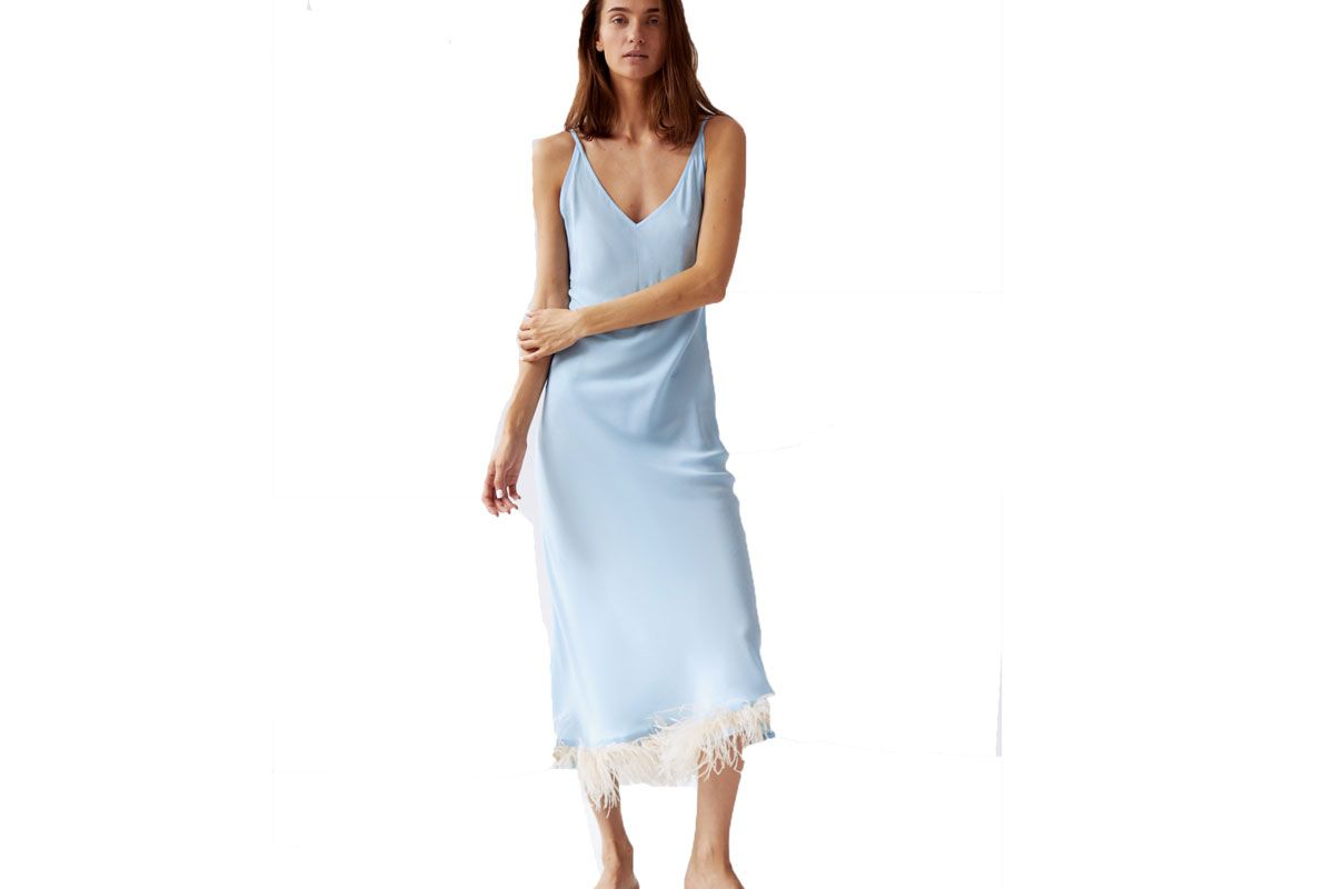 sleeper blue slip dress shop