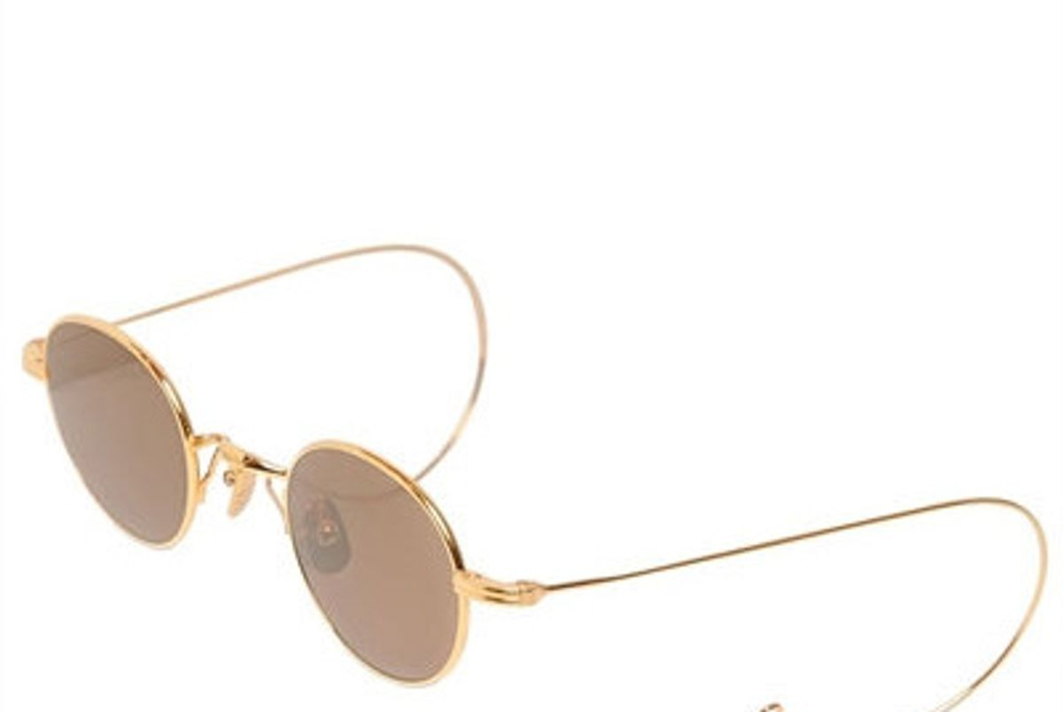 Round Sunglasses with Cable Temples