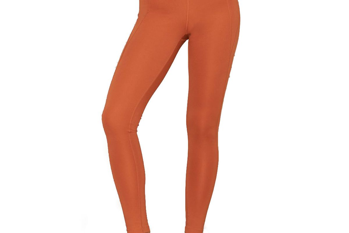 girlfriend collective toasted apricot compressive high rise leggings