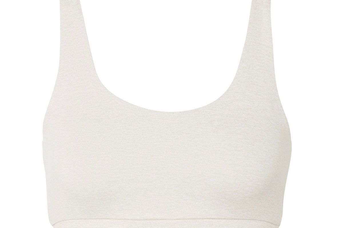 we/me the universal reversible stretch jersey sports bra