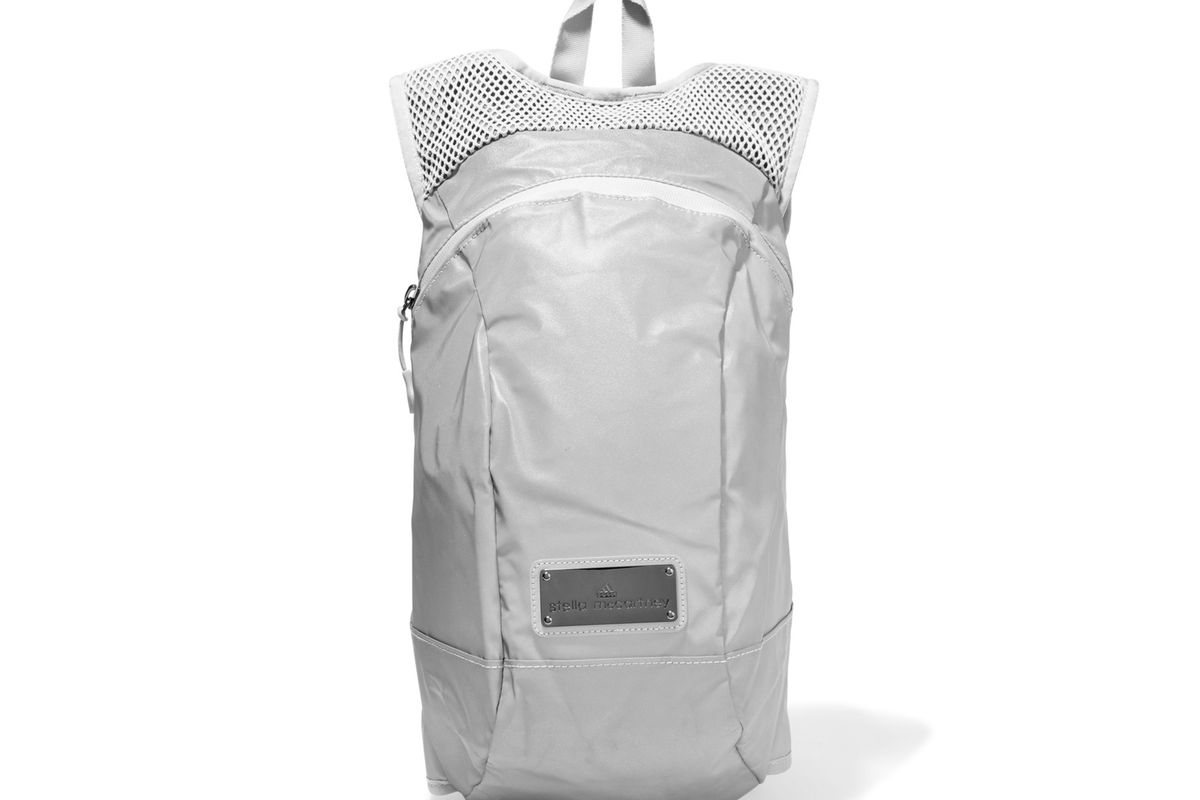 Reflective shell and mesh backpack