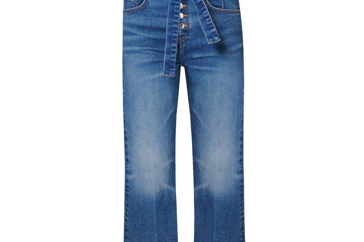 "veronica beard marlene 12"" corset straight jeans"