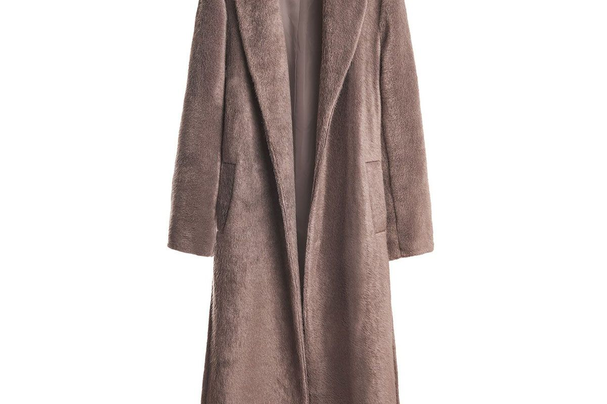 franki shop pebble furry wrap coat