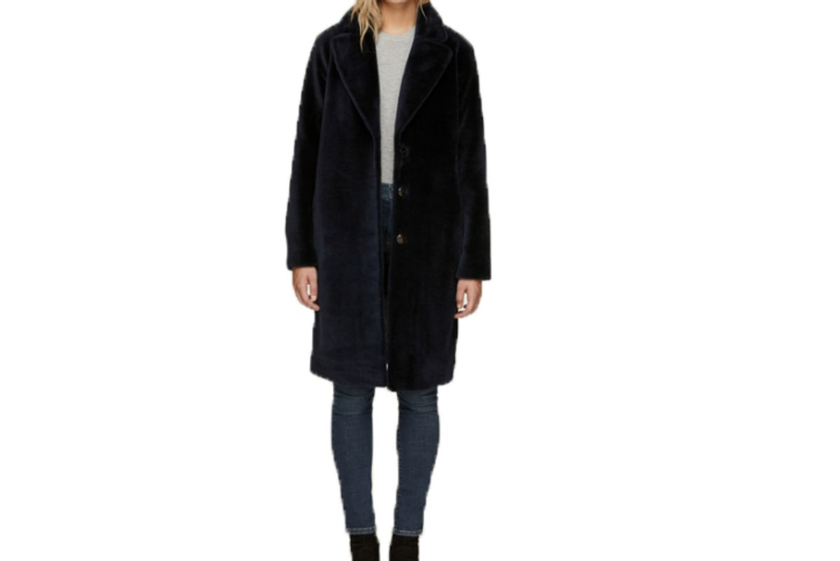 soia and kyo rubina relaxed fit rembossed wool jacket