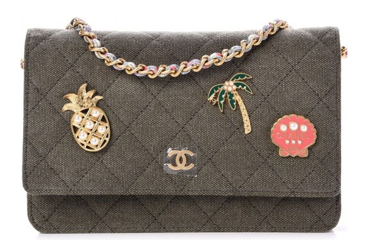chanel coco cuba charms quilted wallet on chain