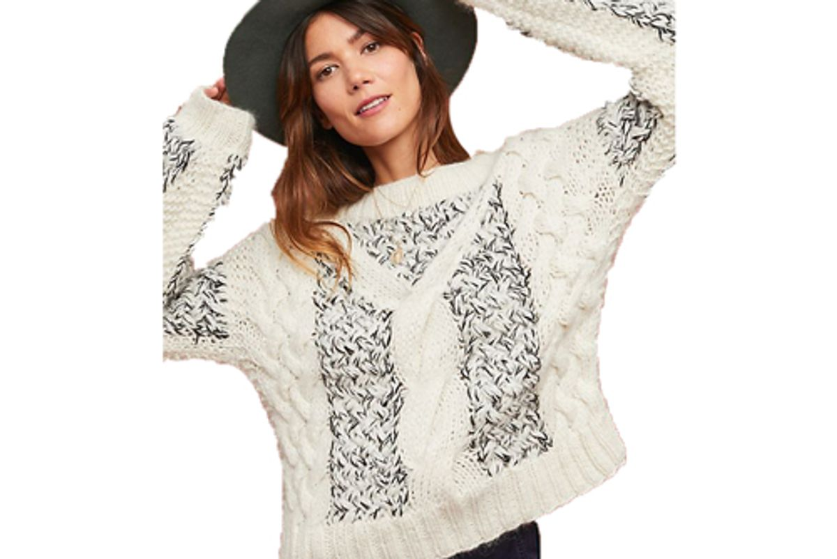 anthropologie winona cable knit pullover