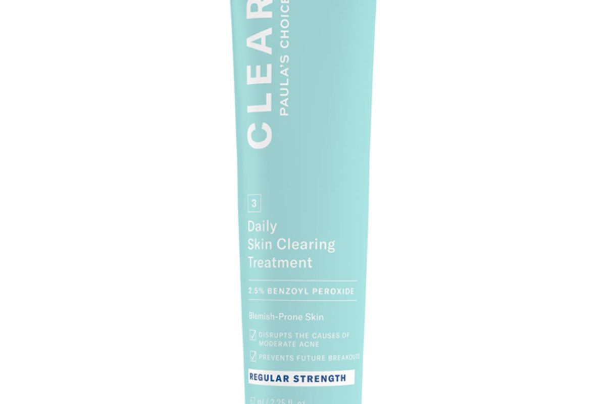 paulas choice clear regular strength daily skin clearing treatment with 2 5 benzoyl peroxide
