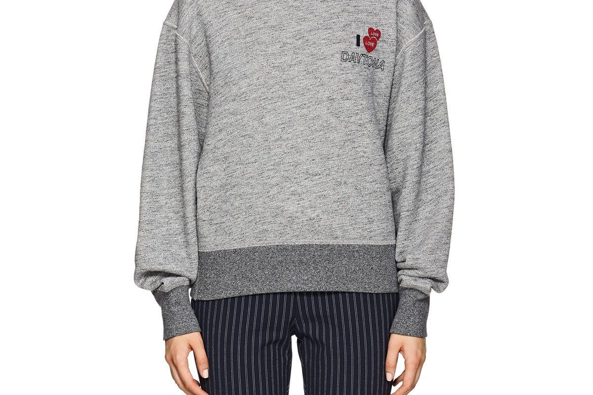 rag and bone daytona cotton terry sweatshirt