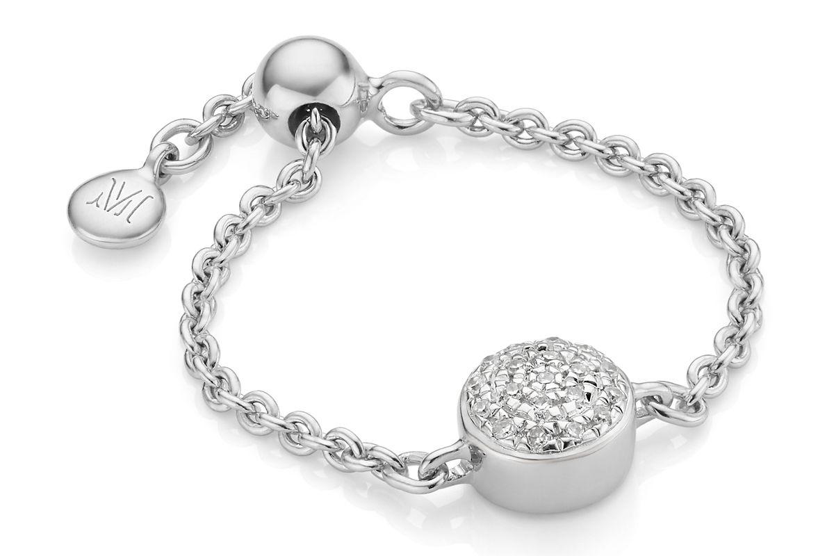 monica vinader fiji button friendship chain ring