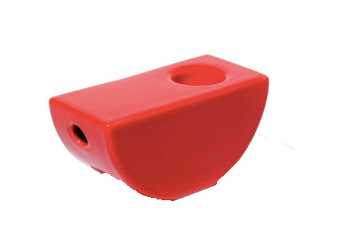 yew yew red half circle pipe