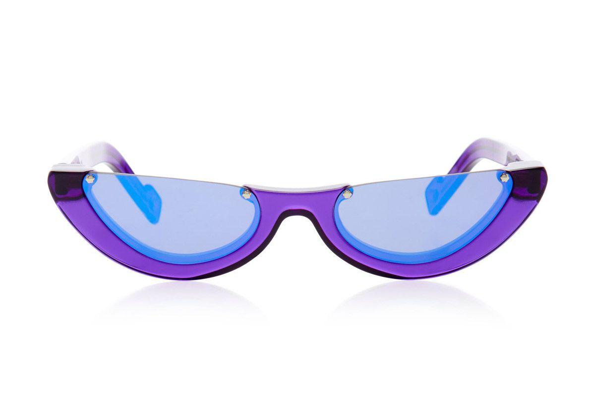 pawaka empat cat eye acetate mirrored sunglasses