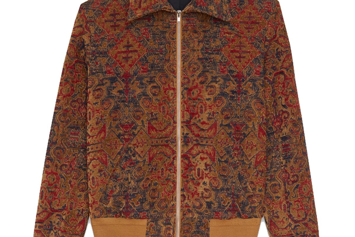 Marrakech Teddy Jacket in Saffron Red Woven
