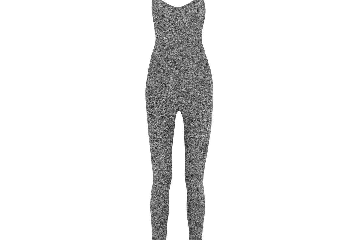Brushed stretch-jersey bodysuit