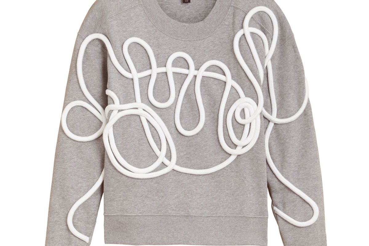 Unisex Brushed-Back Jersey Sweatshirt with Rope Detail
