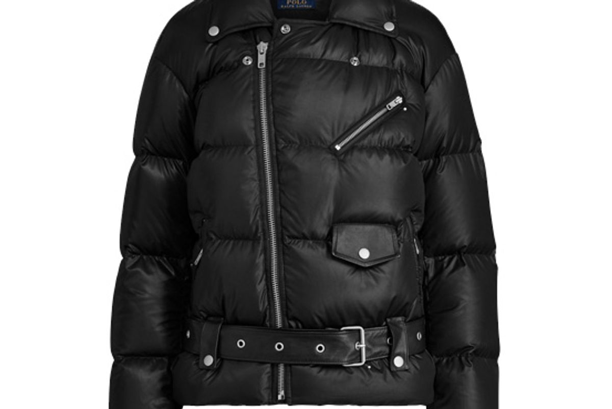 polo ralph lauren moto down jacket