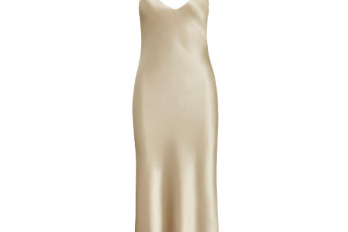 polo ralph lauren satin slip dress