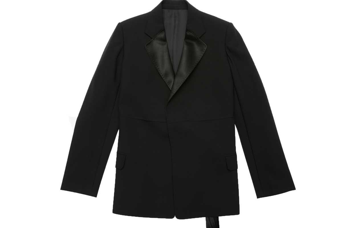 helmut lang black canvas tuxedo blaze