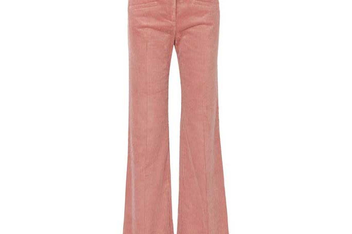 alexa chung cotton blend corduroy bootcut pants