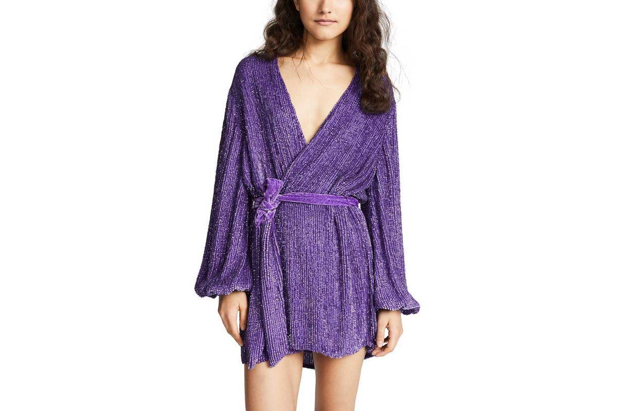 gabrielle sequin robe dress