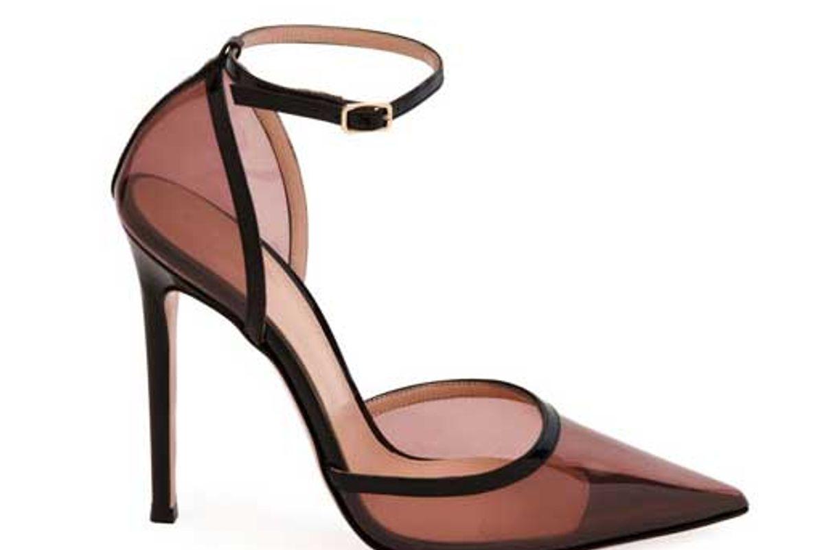 gianvito rossi blush plexi ankle strap pumps