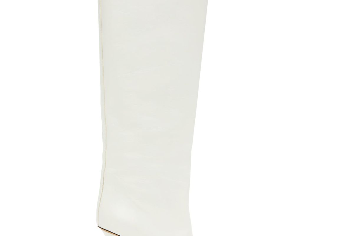 proenza shouler white leather tall boots