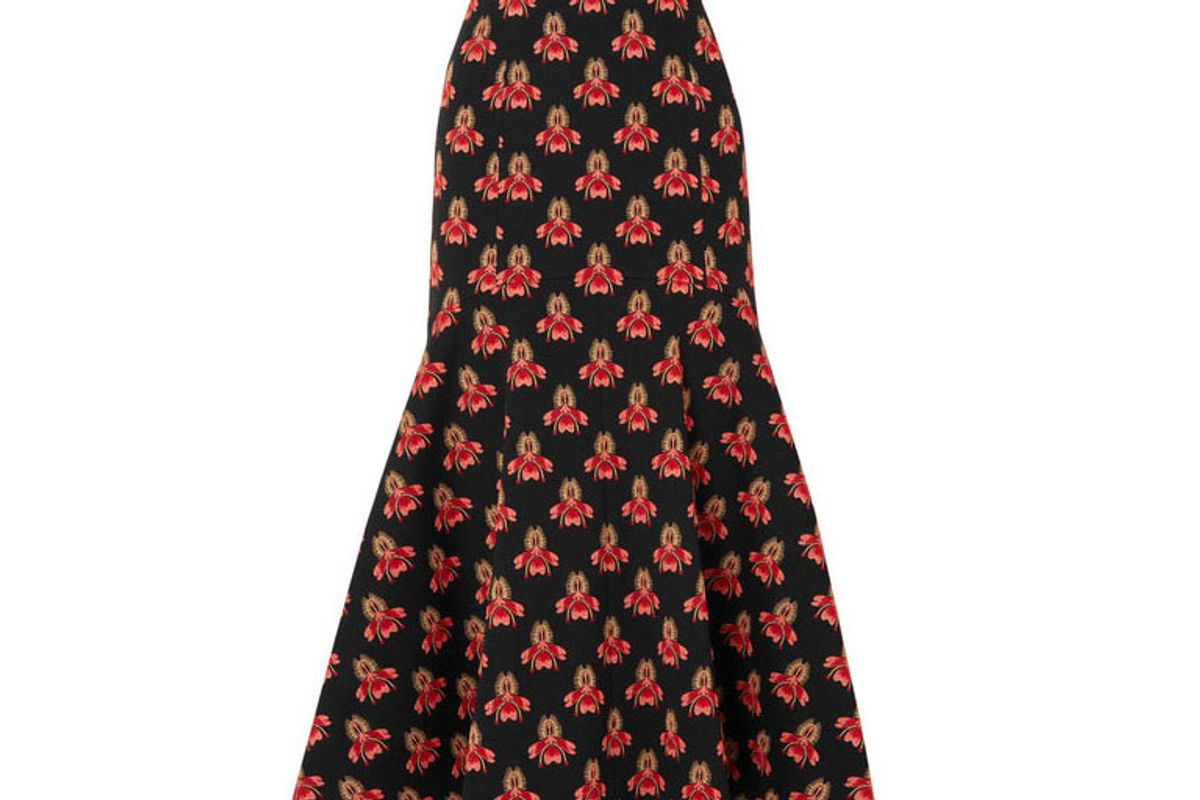 temperley london jupiter fluted brocade midi skirt