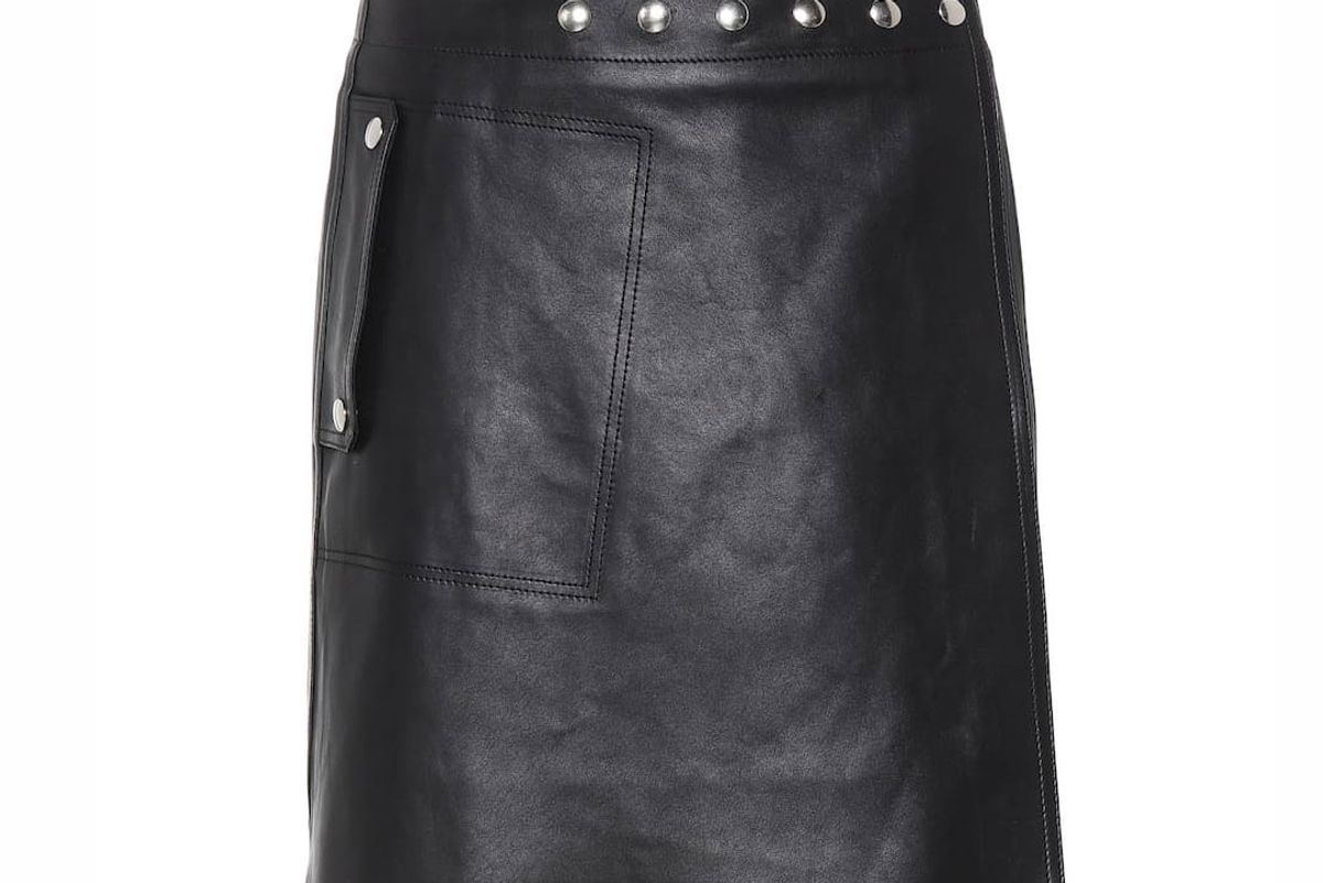 acne studios studded leather mini skirt