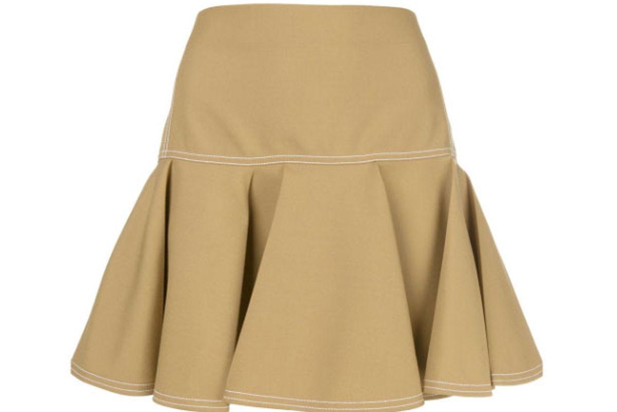 chloe pleated mini skirt